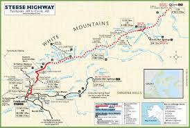 Alaska Highway Map by Circle Alaska Trip