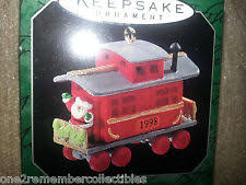 caboose noel rr hallmark keepsake mini ornament 1998