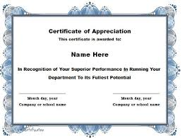performance certificate template simple tricolor recognition