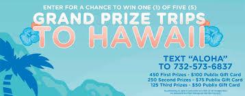 aquafina u201csay aloha u201d sweepstakes publix shoppers u2013 825 winners