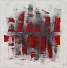 Tableau Abstrait Rouge Et Gris by Tableau Grand Abstrait Peinture 80x80 Contemporain Sandrine Hartmann