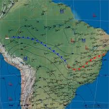 Weather Map North America by Global Surface Archives Weather Graphics