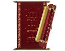 indian wedding invitations scrolls indian wedding cards ethnic scroll invites maroon velvet scroll