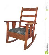 Mission Style Rocking Chair Antique Wooden Rocking Chair Isolated Stock Image Image 23139693