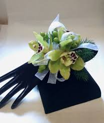 orchid wrist corsage cymbidium orchid wrist corsage up only flowers more