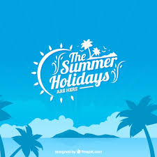 the summer holidays background vector free