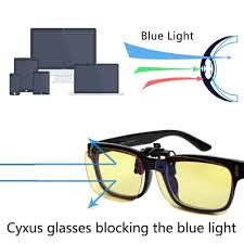 blue light filter goggles cyxus blue light filter clip on computer glasses uv blocking anti