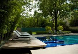 Home Design Dallas Nature Modern Wooden House Garden And Swimming Pool At Dallas