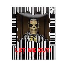 halloween jail decorations hanging skeleton caged jail prisoner