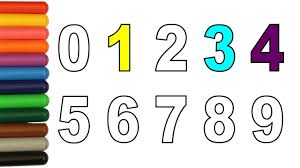 numbers coloring pages learn how to color video for children youtube