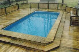 swimming pool deck ideas for portable pools and above ground pools