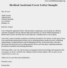 resume cover letter for medical assistant