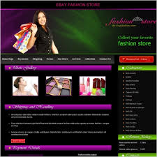 fashion store template free website templates in css html js