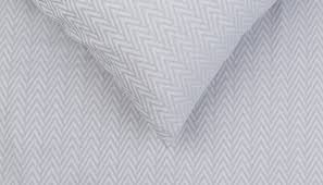 herringbone bed linen grey