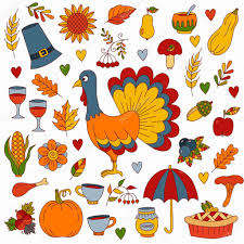 thanksgiving day symbols collection stock vector olizabet
