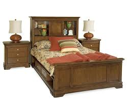 Bookcase Headboard Beds Full Size Captains Bed With Bookcase Headboard 9746