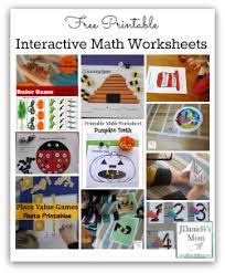 free printable interactive math worksheets