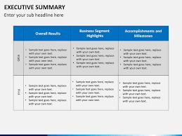 executive summary template powerpoint gavea info
