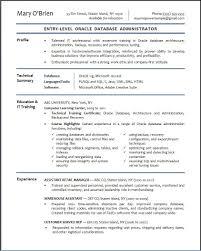resume templates exles dba resume exles exles of resumes