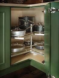 rotating shelves wood mode fine custom cabinetry kitchen