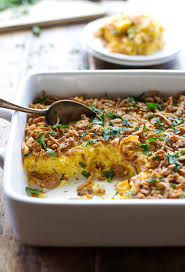 corn pudding with crispy onions and herbs recipe pinch of yum