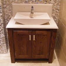Marble Top Vanities Dark Oak Vanity Unit With Stone Top Aspenn Furniture