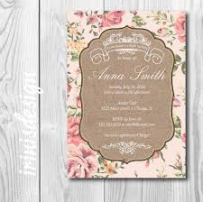 Shabby Chic Website Templates by Printable Shabby Chic Wedding Invitation Templates