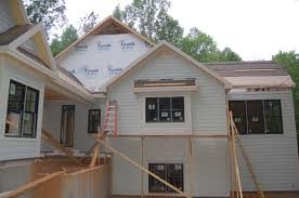 exterior trim and systems rough continue modern craftsman style home
