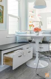 Kitchen Table With Built In Bench Kitchen Awesome Built In Banquette Dining Sets White Dining