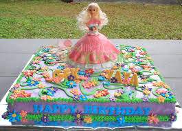 barbie garden fondant cake for yaya little miss cupcake