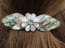 barrette hair clip 24 best abalone shell mop barrette hairclip images on