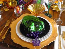 elegant mardi gras table decorations home table decoration