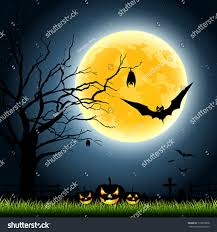 halloween night background halloween full moon party night background stock vector 113879668