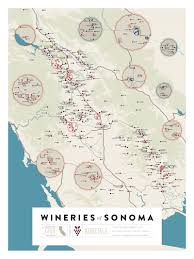 Sonoma California Map Over 1 200 California Wineries On Two Beautiful Maps