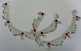 buy designer anklets from meghna gilat ornaments india id 1167717