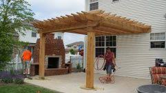 outstanding modern with semi classic natural grill gazebo used
