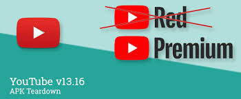 download youtube red apk youtube v13 16 may be preparing red rebrand to premium and