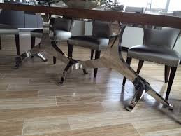 Contemporary Dining Table Base Modern Wood Dining Table Edges Stainless Steel