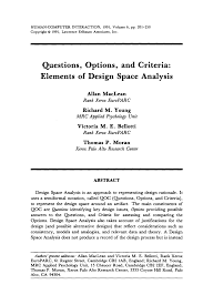design criteria questions questions options and criteria pdf download available