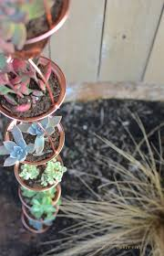 succulent planter copper rain chain succulent planter two thirty five designs