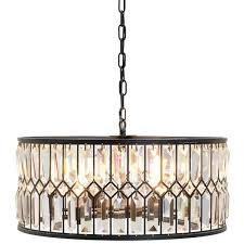 Crystal Drum Shade Chandelier Dining Room Drum Shade Chandelier With Crystals And Crystal