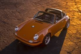orange porsche convertible singer u0027s orange u0027luxemburg u0027 targa is perfect singer supercars net