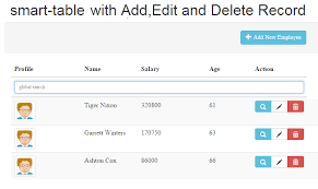 Bootstrap Table Example Angularjs Smart Table With Add Edit And Delete Records Js Tutorials
