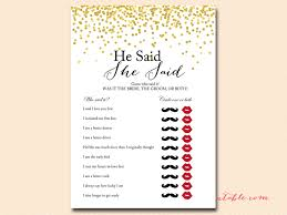 who said it bridal shower gold foil confetti bridal shower magical printable