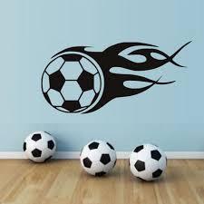 online shop soccer balls wall stickers home decor fire football
