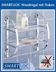 haken badezimmer wenko smart loc badregal ohne bohren bad ablage mit haken