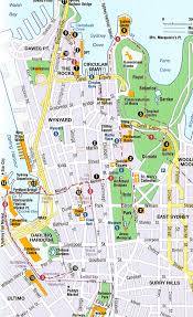 sydney australia map sydney map tourist attractions travel vacations with