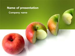 three quarters apple powerpoint template backgrounds 03379