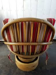 Rattan Swivel Rocker Cushions Java Handmade Design Vintage Bamboo Boca Rattan Swivel Rocker