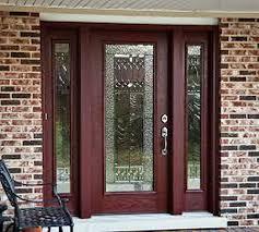 Steel Or Fiberglass Exterior Door Alluring Fiberglass Entry Door Of Leading Brands Doors Solutions